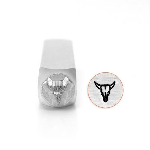 ImpressArt Steer Skull 6mm Metal Stamping Design Punches.