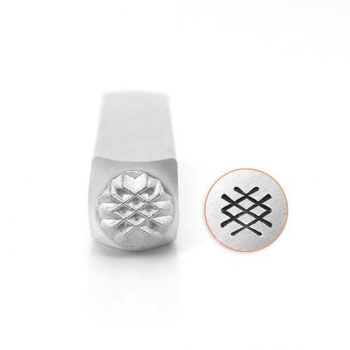 *PRE-ORDER, Special Order* ImpressArt Crosshatch Texture 6mm Metal Stamping Design Punches