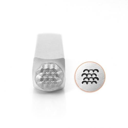*PRE-ORDER, Special Order* ImpressArt Curves Texture 6mm Metal Stamping Design Punches