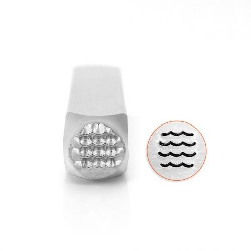 *PRE-ORDER, Special Order* ImpressArt Waves Texture 6mm Metal Stamping Design Punches
