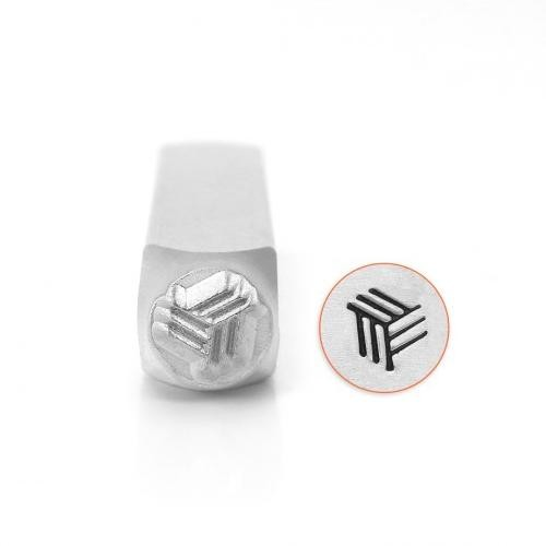 *PRE-ORDER, Special Order* ImpressArt Angled Line Texture 6mm Metal Stamping Design Punches