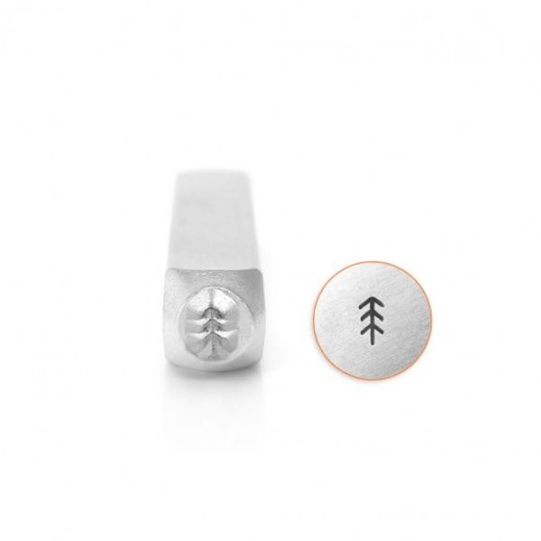 ImpressArt, Simple Pine Tree 4mm Metal Stamping Design Punches