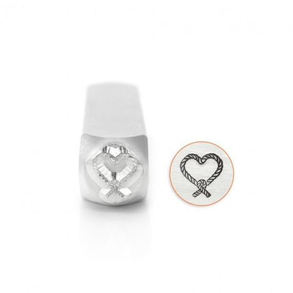 ImpressArt, Love Knotted Rope Heart 9.5mm Metal Stamping Design Punches