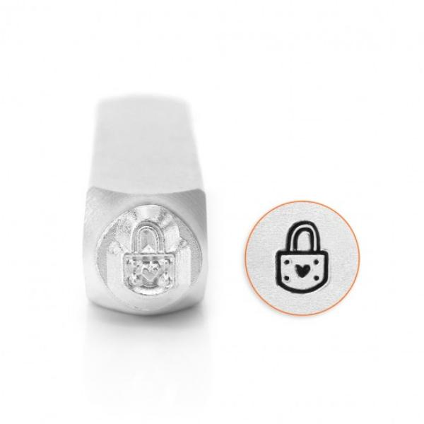 ImpressArt, Padlock Heart 6mm Metal Stamping Design Punches