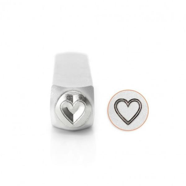 ImpressArt, Outlined Heart 6mm Metal Stamping Design Punches