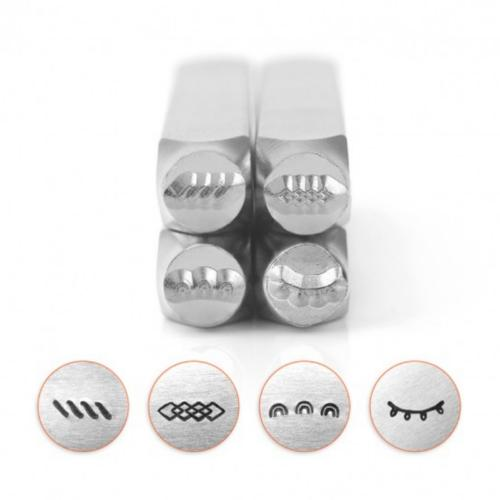 *PRE-ORDER, Special Order* ImpressArt Border Collection (No.1) 6mm Metal Stamping Design Punches (4pc)