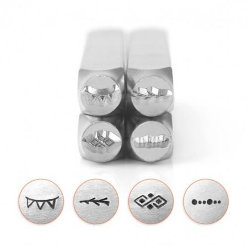 *PRE-ORDER, Special Order* ImpressArt Border Collection (No.2) 6mm Metal Stamping Design Punches (4pc)