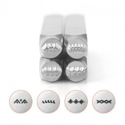 *PRE-ORDER, Special Order* ImpressArt Border Collection (No.3) 6mm Metal Stamping Design Punches (4pc)