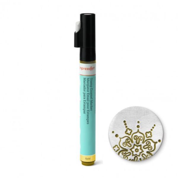 Stamp Enamel Marker Pen, 1.1oz, 32.5ml ImpressArt Stamping Supplies, Gold