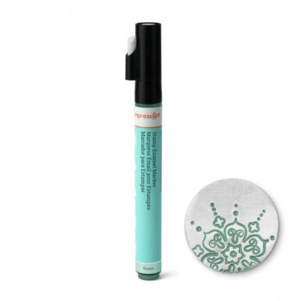 Stamp Enamel Marker Pen, 1.1oz, 32.5ml ImpressArt Stamping Supplies, Green