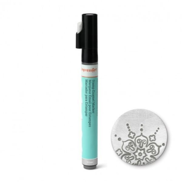 Stamp Enamel Marker Pen, 1.1oz, 32.5ml ImpressArt Stamping Supplies, Silver