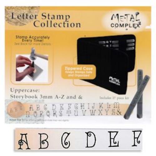 Storybook Alphabet Upper Case Letter 3mm Stamping Set - Metal Complex