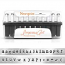 Premium Newsprint Alphabet Upper Case Letter 3mm 1/8 Stamping Set - ImpressArt