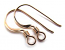 Gold Filled Earwires French Hooks 18x7.5mm Flattened with Coil x1pr