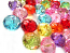 """Acrylic Transparent 11.5x7mm Faceted """"Crystal"""" Roundelle Beads 25g (x48pc) Soup Mix"""