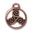 TierraCast Pewter Antique Copper Plated 26x22.3mm Celtic Triskele Pendant