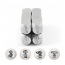 ImpressArt Stick Family Collection 6mm/7mm Metal Stamping Design Punches (4pc Dad, Mum (mom), Son, Daughter)
