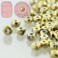 Czech Glass Fire Polished Micro Spacer Beads 2x3mm Full Amber x50pc
