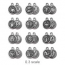 TierraCast Pewter Silver Plated Zodiac Charm, Full Set
