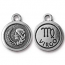 TierraCast Pewter Silver Plated Zodiac Charm, Virgo