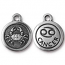 TierraCast Pewter Silver Plated Zodiac Charm, Cancer