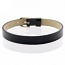 Faux Snakeskin PU Leather Bracelet Cuff Band, 8mm Wide Strip, 6 -7.5 Inch, x1pc, Black