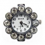Boer Flower Watch Face for Beading Silver Rhinestone Crystals Clear (D04)
