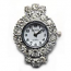 Boer Round (fancy bail) Watch Face for Beading Silver Rhinestone Crystals Clear (D06)