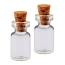 Steampunk Glass Vessel 0.5ml Bottle with Cork 18x10mm, Teeniest Fairy Jar (2pk)