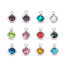 Stainless Steel Birthstone Cup Crystal Charms - 6mm, Full 12pc Set.