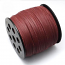 Faux Leather Leatherette Flat Cord 2.7-3mm Burgundy per metre