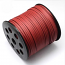 Faux Leather Leatherette Flat Cord 2.7-3mm Roof Red per metre