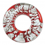 Beadsmith, Glass Foil Donut Pendant 41x41mm, Red