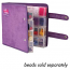Craftmates Craft Mates Lockables Double Snappin Large Storage Organizer Case 9 inch (24cm), Purple Ultrasuede