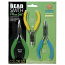 Beadsmith 3 Piece Pliers Set, New Colour ID Handles (Full Size)