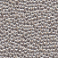 Solid Metal Seed Beads, 15/0, 1.5mm, Silver Plated, 17 grams
