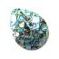 Paua Shell Pendant 40x30mm - Tear Drop Mosaic