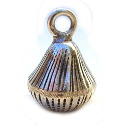 Thai Karen Hill Tribe Silver - 19x13mm Pear Harmony Ball Bell Charm x1