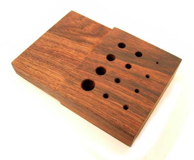 Wooden - Wire Chain Draw Plate 12 Hole - Round