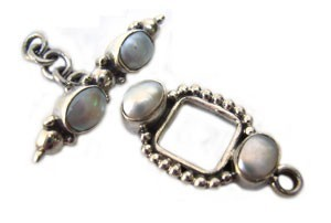 Sterling Silver Toggle 23x12.5mm Freshwater Pearl Toggle (27mm Bar) x1