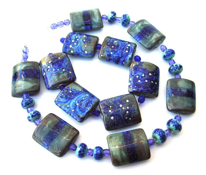Sea Foam - Ian Williams Artisan Glass Lampwork Beads