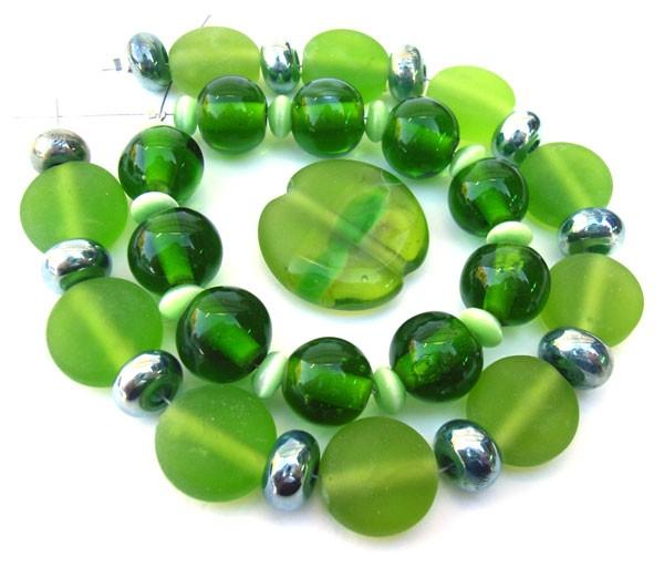 Bottle Glass -  Ian Williams Artisan Glass Lampwork Beads