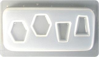 Resin Mould - Hexagons & Keystones (4 on 1)