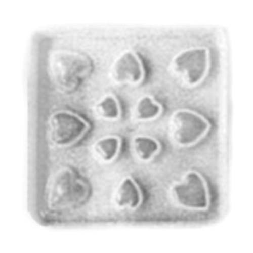 Resin Mould - Assorted Hearts Cabochons (12-on-1)