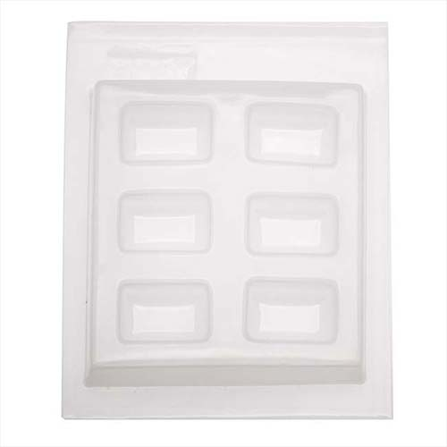 Resin Mould - Rectangle Cabochon (6-on-1) 30x19mm