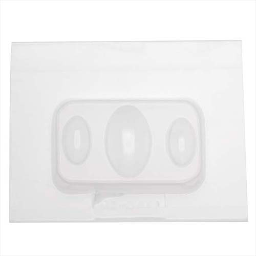 Resin Mould - Oval Jewels Cabochons (3-on-1) 21x11mm & 33x20mm