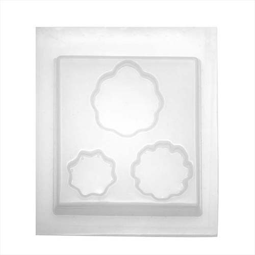 Resin Mould - Fancy Floral Shapes (3-on-1) 30mm - 50mm