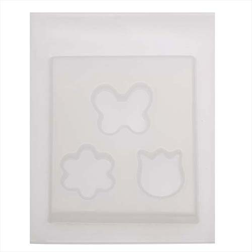 Resin Mould - Butterlies & Flowers (3-on-1) 26mm - 37mm