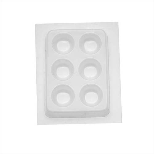 Resin Mould - Round Button Cabochon (6-on-1) 25mm