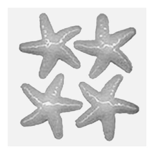 Resin Mould - Starfish Cabochons (4-on-1) 75mm